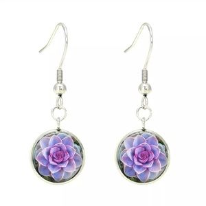 Jewelry - 💜🌸Purple succulent flower 🌸 💜